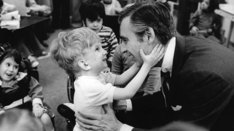 Mister Rogers and Tommy Paulhamus