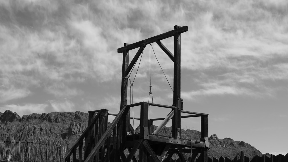 Gallows for execution by hanging
