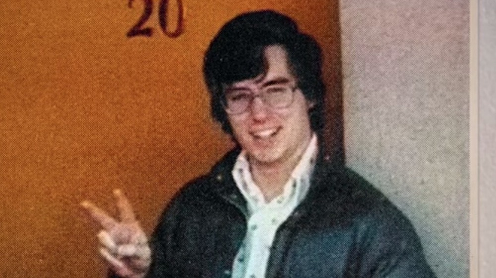 A high school photo of Mark Hofmann taken from Murder Among the Mormons