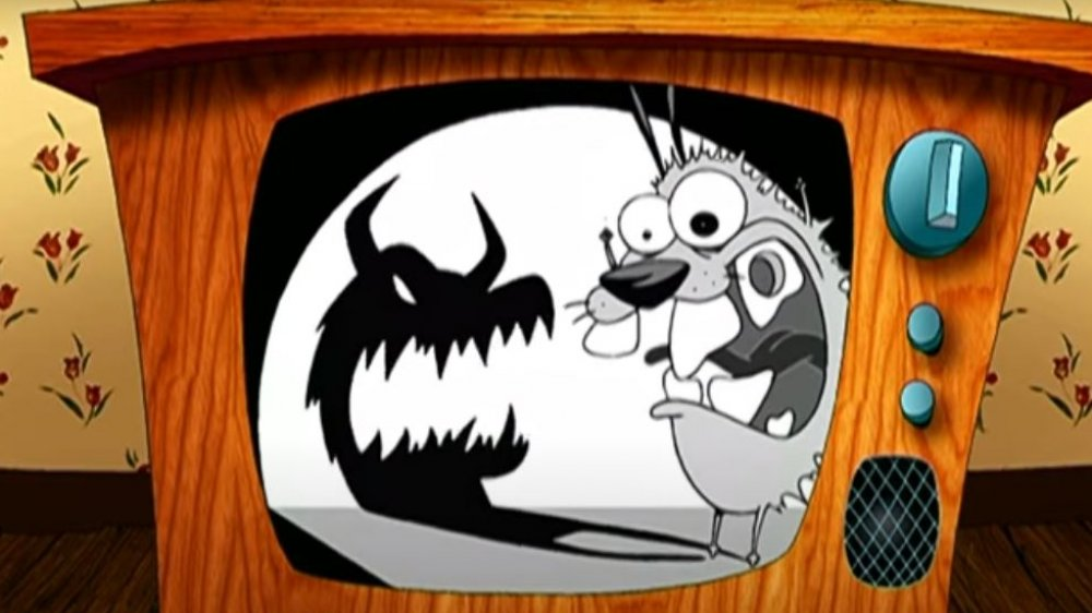 A shot from the opening credits of Courage the Cowardly Dog