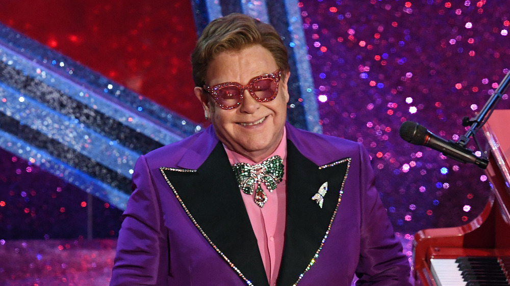 Elton John performs at the 92 Annual Academy Awards in 2020